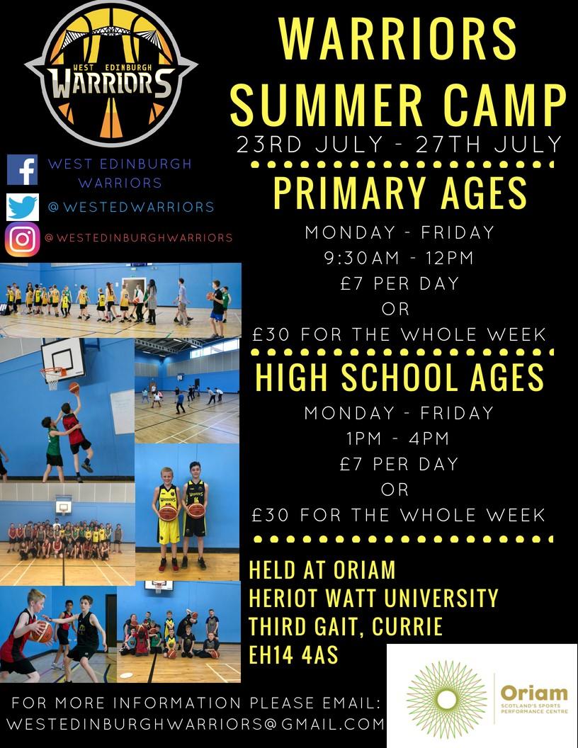 Warriors Summer Camp