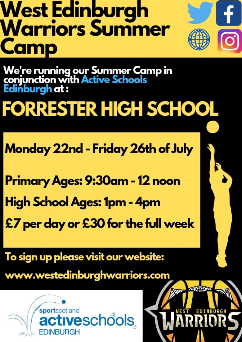 West Edinburgh Warriors Summer Camp