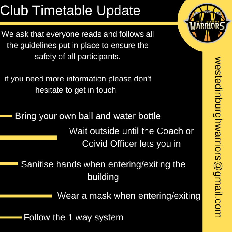 Copy of Copy of Club Timetable Update